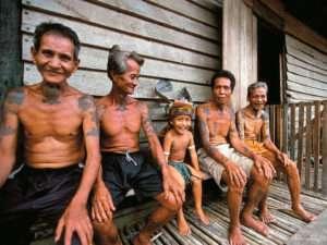 Borneo Villageois
