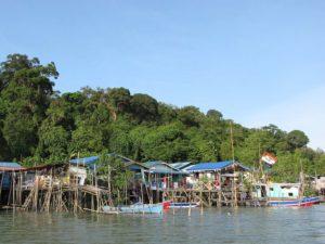 Borneo village pilotis